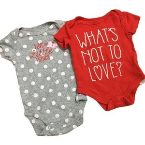 Baby Girl Short Sleeve Love Bodysuits Onesies